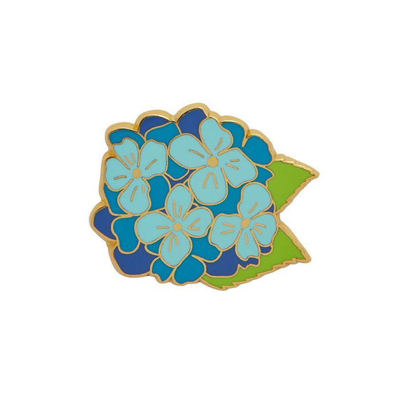 Heartfelt Hydrangea Blue Enamel Pin Erstwilder - Rockamilly-Accessories-Vintage