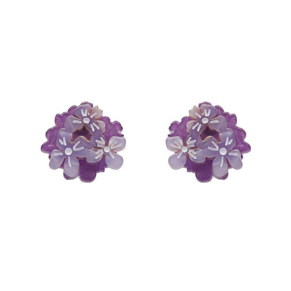 Heartfelt Hydrangea Earrings Erstwilder - Rockamilly-Jewellery-Vintage
