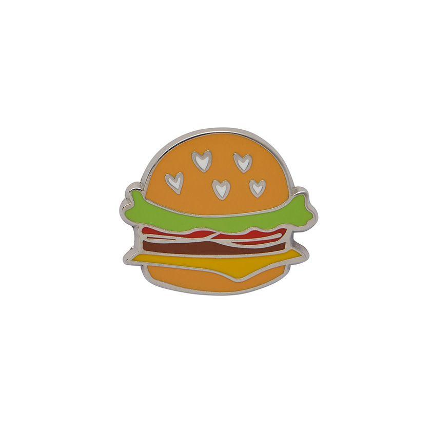 Hearty Hamburger Enamel Pin Erstwilder - Rockamilly-Accessories-Vintage