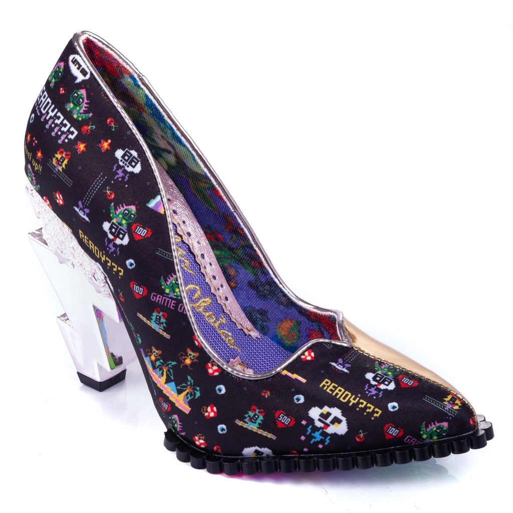Heavens Above Gold Irregular Choice - Rockamilly-Shoes-Vintage