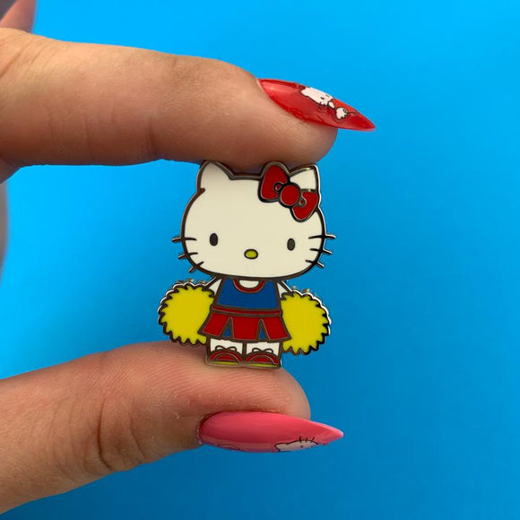 Hello Kitty Cheerleader Enamel Pin - Rockamilly-Jewellery-Vintage