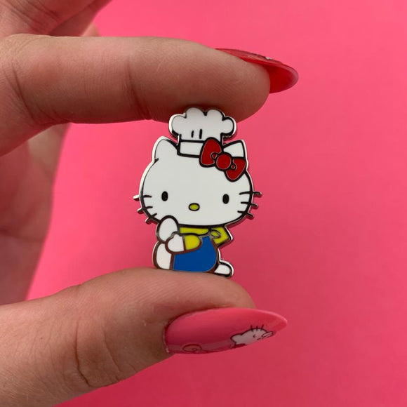 Hello Kitty Chef Enamel Pin - Rockamilly-Jewellery-Vintage