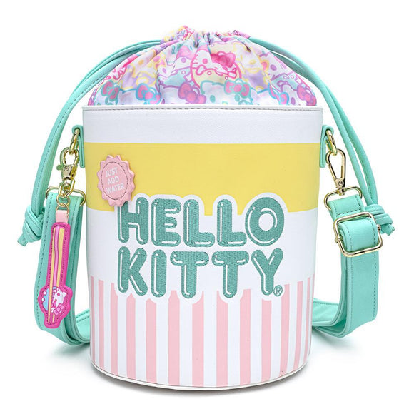 Hello Kitty 'Cup O Kitty' Bucket Crossbody Bag - Rockamilly-Bags & Purses-Vintage
