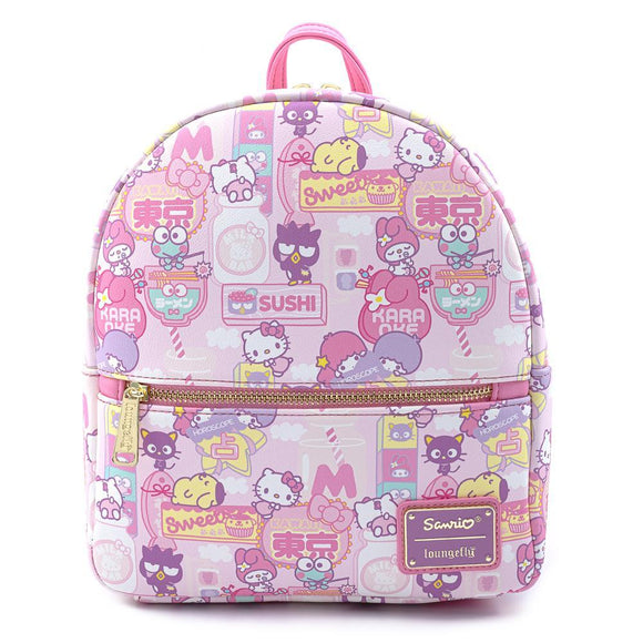 Hello Kitty Kawaii Convertible Mini Backpack - Rockamilly-Bags & Purses-Vintage