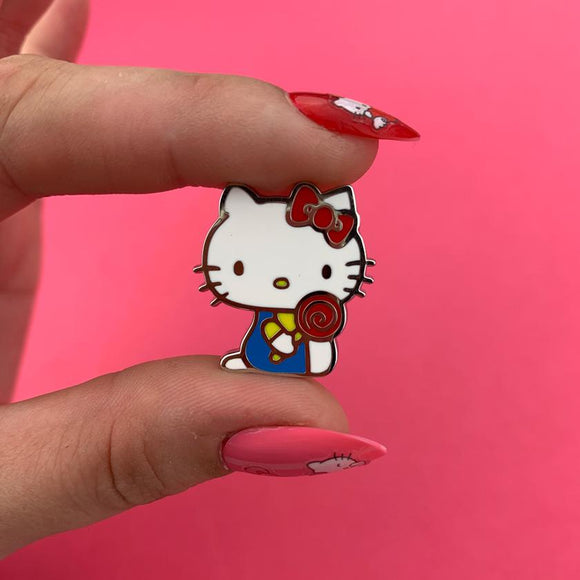 Hello Kitty Lollipop Enamel Pin - Rockamilly-Jewellery-Vintage