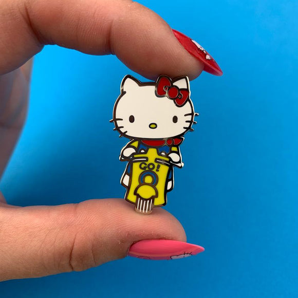 Hello Kitty Scooter Enamel Pin - Rockamilly-Jewellery-Vintage