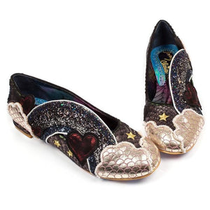 Holiday Romance Black Irregular Choice Heels - Rockamilly-Shoes-Vintage
