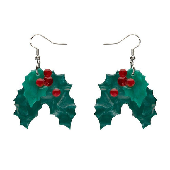 Holly Jolly Earrings Erstwilder - Rockamilly-Jewellery-Vintage