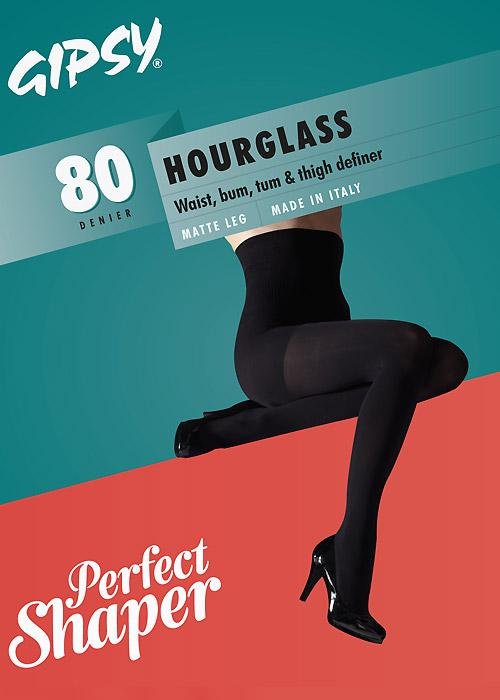 Hourglass Shaper Tights - Rockamilly-Hosiery-Vintage