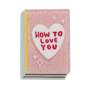 How to Love You Brooch Love Yourself Collection Erstwilder - Rockamilly-Jewellery-Vintage