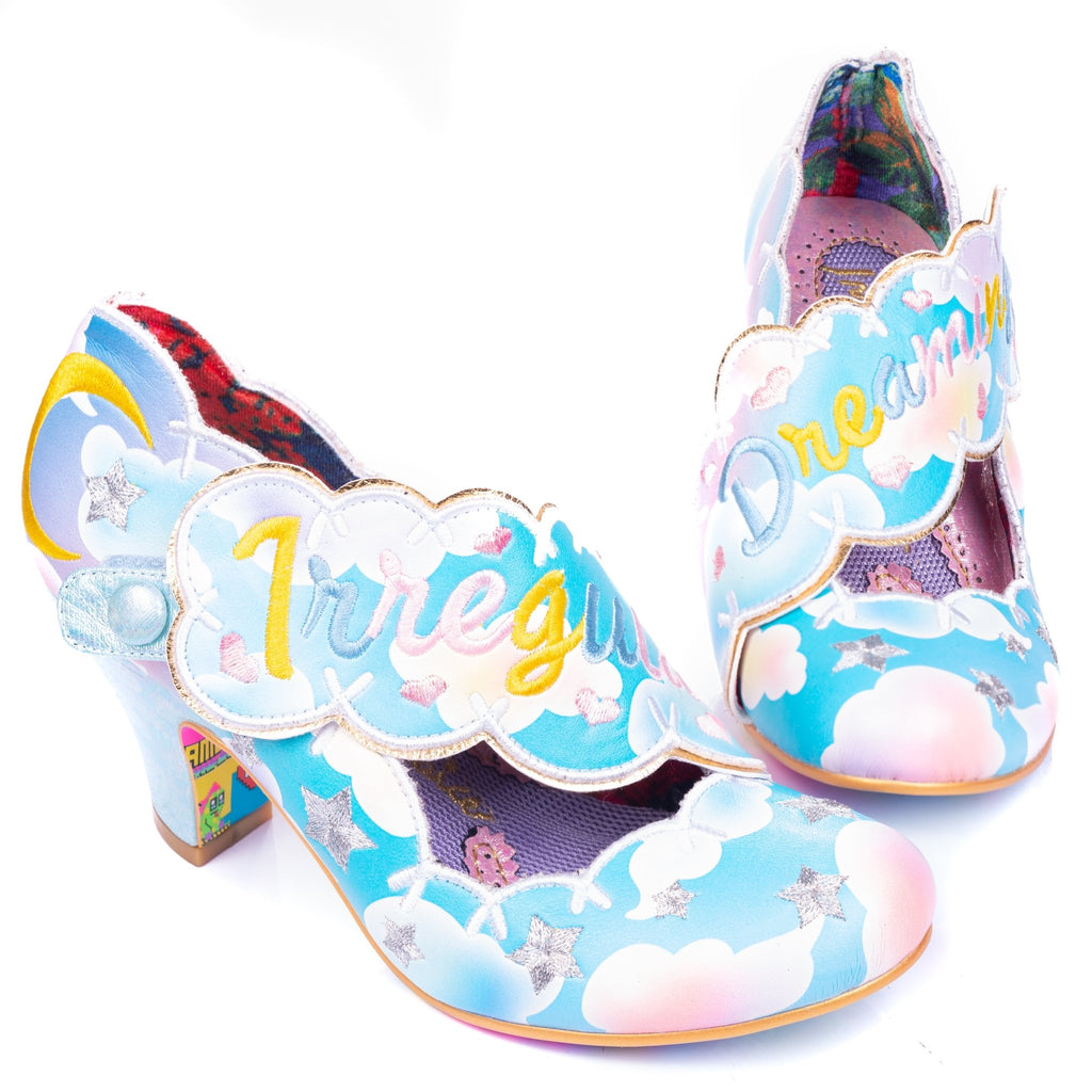 Irregular Dreaming Blue/Gold Irregular Choice - Rockamilly-Shoes-Vintage