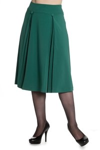 Kennedy Skirt Green - Rockamilly-Skirts & Shorts-Vintage
