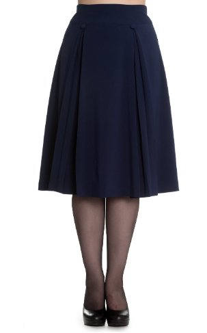 Kennedy Skirt Navy - Rockamilly-Skirts & Shorts-Vintage