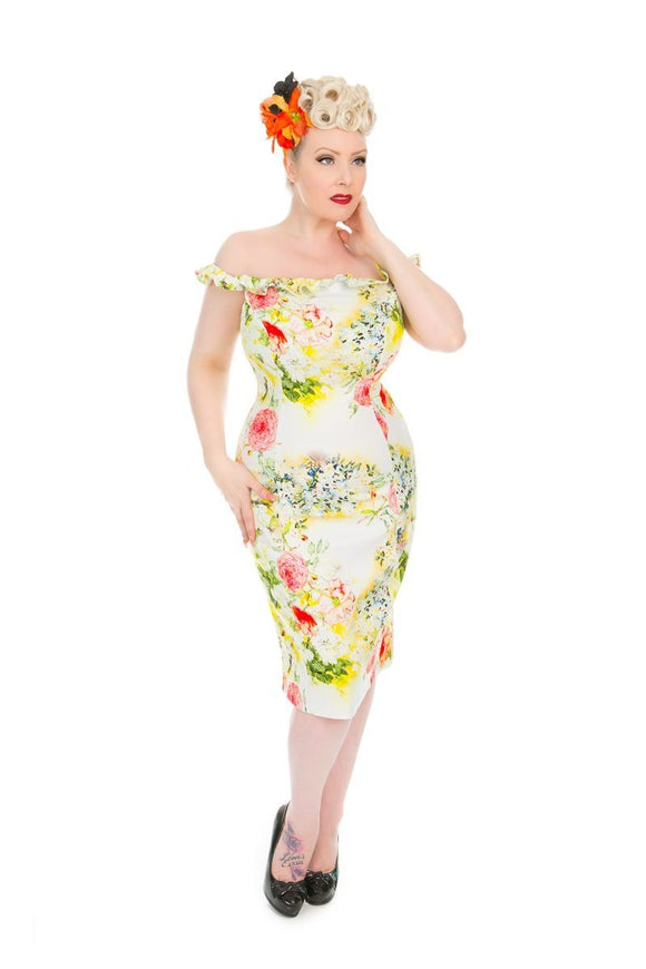 Kyra Pencil Dress - Rockamilly-Dresses-Vintage