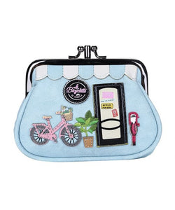 La Bicyclette de Vendula Clipper Coin Purse - Rockamilly-Bags & Purses-Vintage