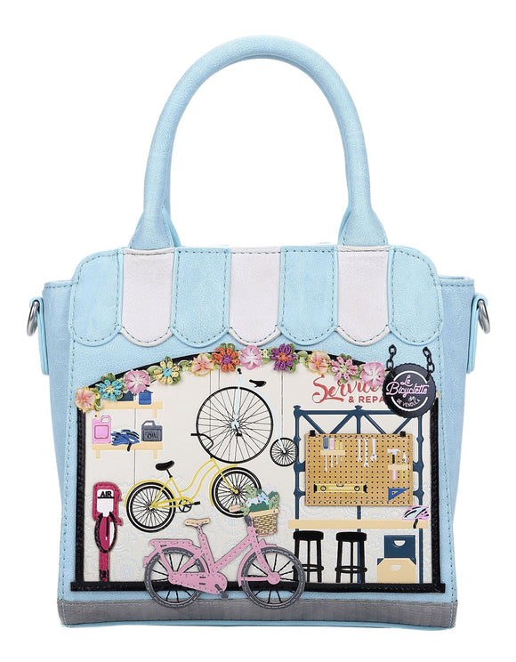 La Bicyclette De Vendula Mini Tote Bag - Rockamilly-Bags & Purses-Vintage