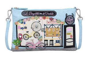 La Bicyclette De Vendula Pouch Bag - Rockamilly-Bags & Purses-Vintage