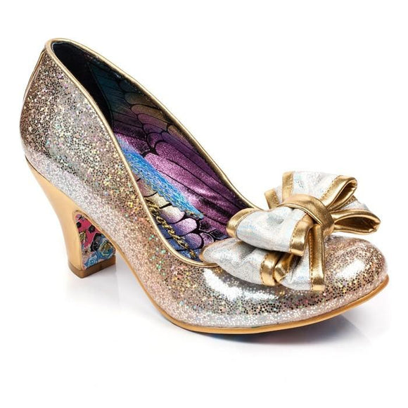 Lady Ban Joe Gold Irregular Choice Heels - Rockamilly-Shoes-Vintage