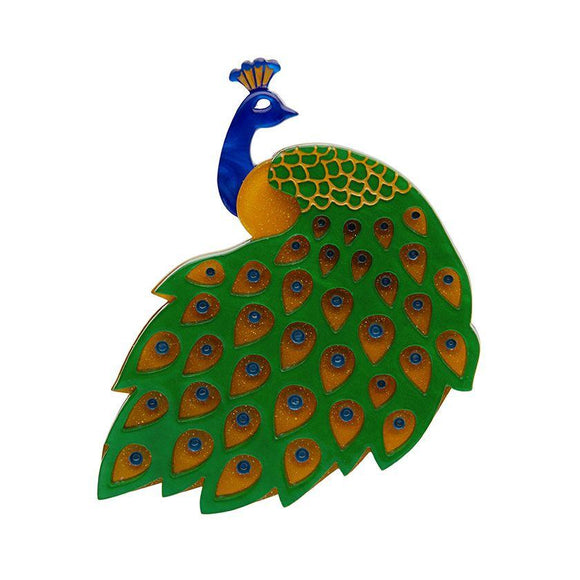 Le Peacock Brooch Erstwilder - Rockamilly-Accessories-Vintage