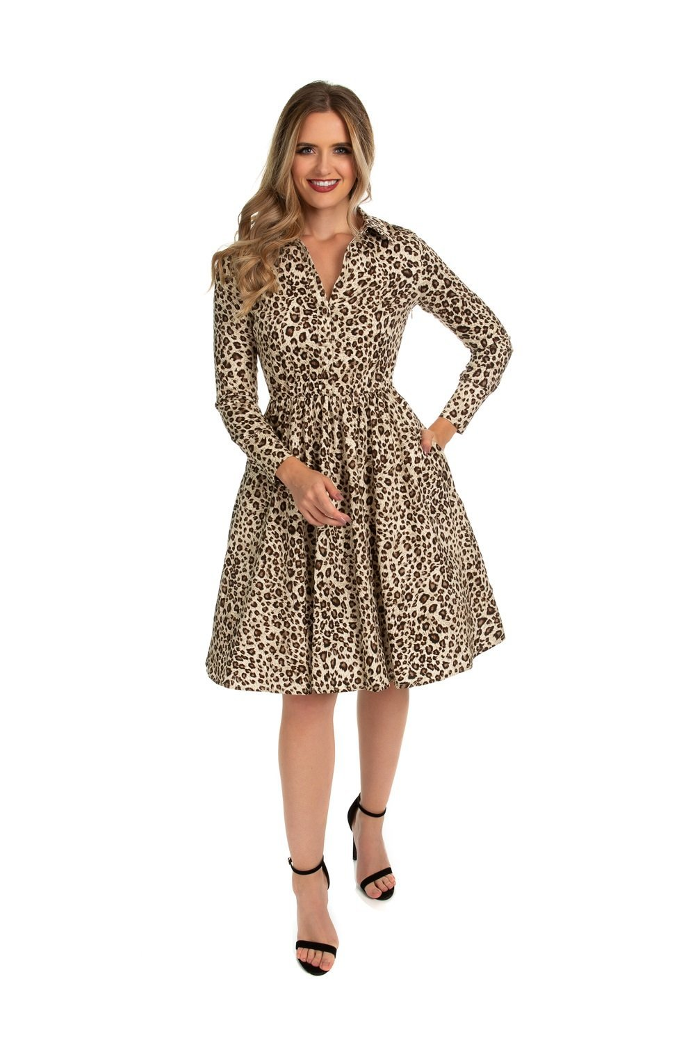Lena Leopard Swing Dress - Rockamilly-Dresses-Vintage