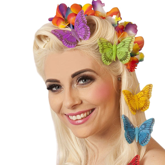 Lil Bright Butterfly Hair Clip - Rockamilly-Accessories-Vintage