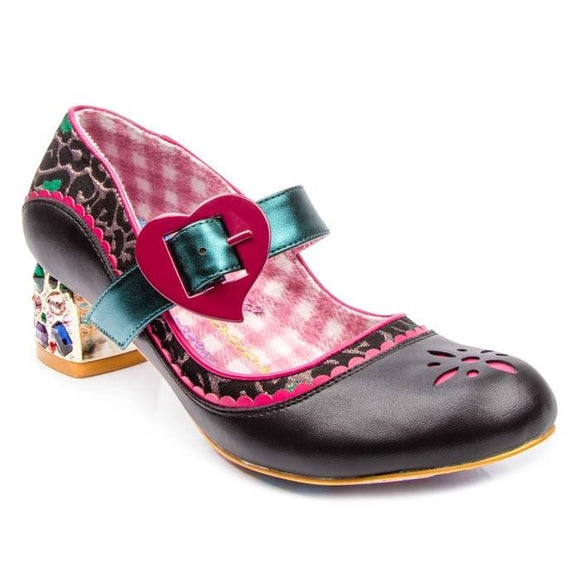 Little Jem Black/Purple Irregular Choice - Rockamilly-Shoes-Vintage