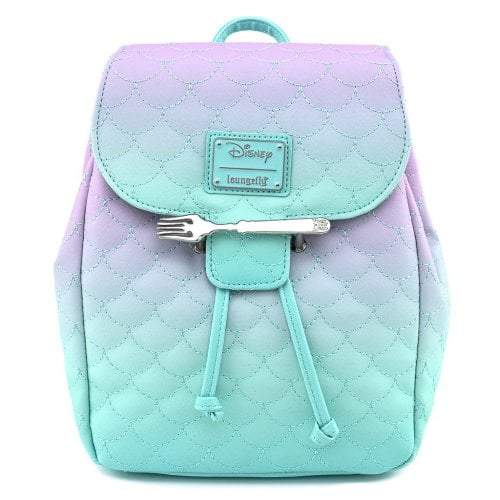 Little Mermaid Ombre Scales Mini Backpack - Rockamilly-Bags & Purses-Vintage