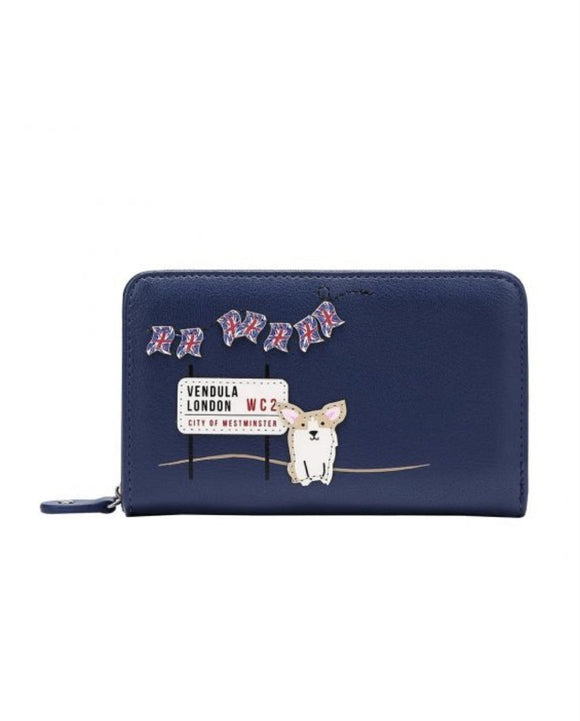 London Corgis Medium Ziparound Wallet - Rockamilly-Bags & Purses-Vintage