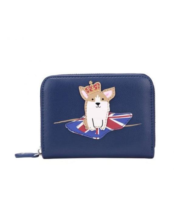 London Corgis Small Zip Around Wallet - Rockamilly-Bags & Purses-Vintage