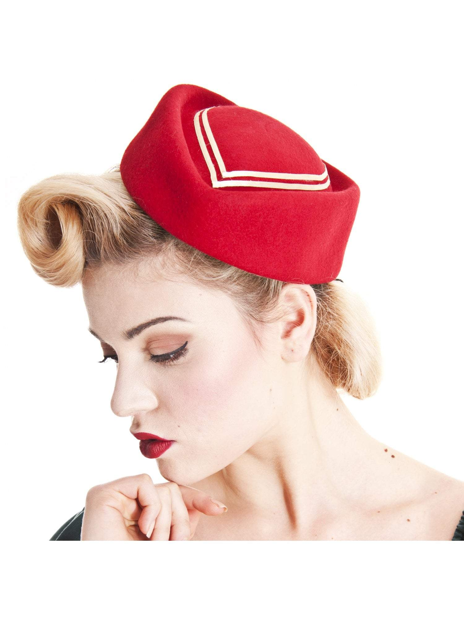 Lorena Hat Red Collectif - Rockamilly-Accessories-Vintage