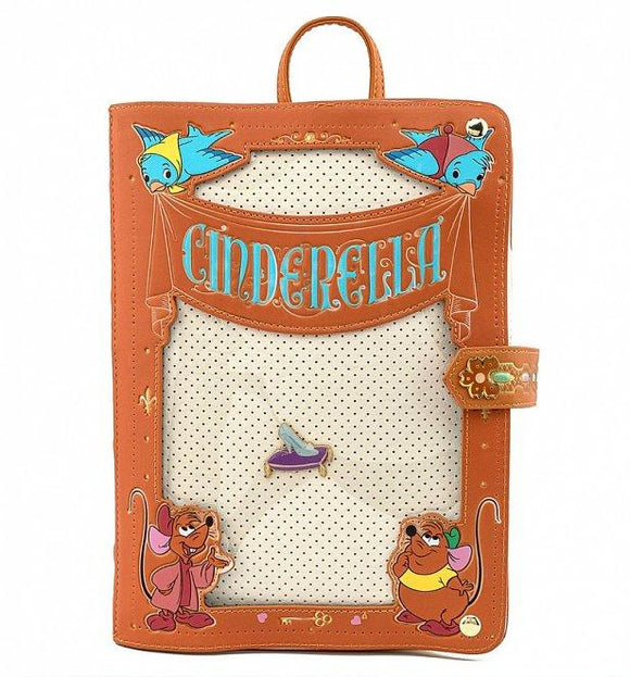 Loungefly Disney Cinderella Pin Collector Backpack - Rockamilly-Bags & Purses-Vintage
