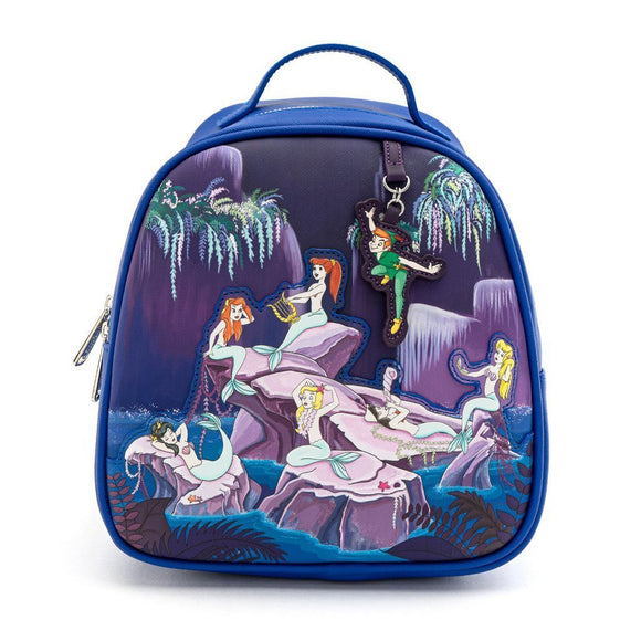 Loungefly Disney Peter Pan Mermaids Mini Backpack - Rockamilly-Bags & Purses-Vintage