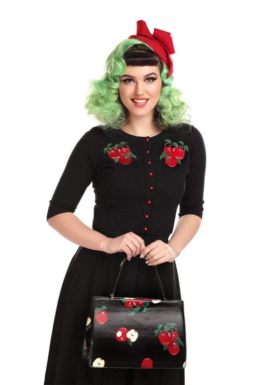 Lucy Apples Cardigan Collectif - Rockamilly-Knitwear-Vintage