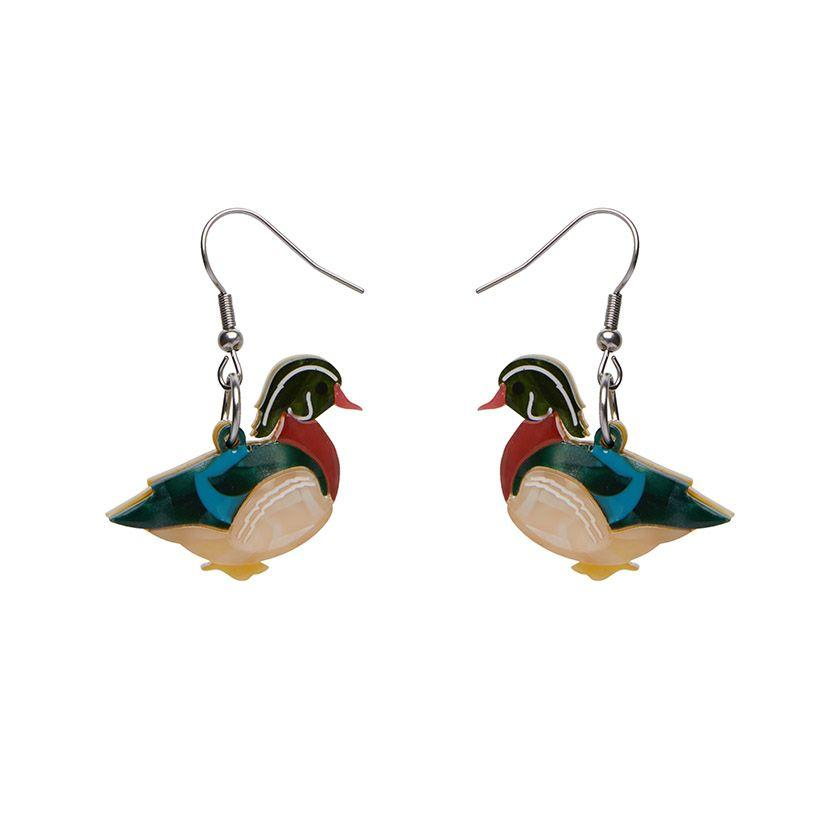 Mallard Ballard Drop Earrings Erstwilder - Rockamilly-Jewellery-Vintage