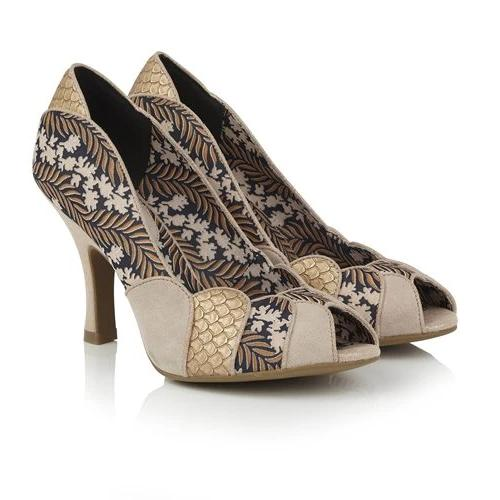 Matilda Gold Ruby Shoo - Rockamilly-Shoes-Vintage