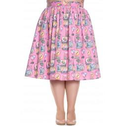 Maxine Pink Flamingo Skirt Full Circle - Rockamilly-Skirts & Shorts-Vintage