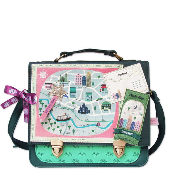 Memento City Satchel - Rockamilly-Bags & Purses-Vintage