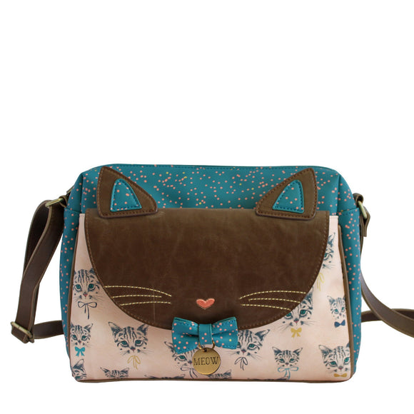 Meow Cat Satchel - Rockamilly-Bags & Purses-Vintage
