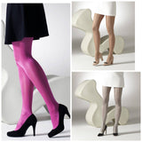 Metallic 40 Denier Coloured Tights - All Colours - Rockamilly-Hosiery-Vintage