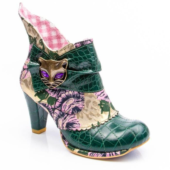 Miaow Green/Yellow Irregular Choice - Rockamilly-Shoes-Vintage