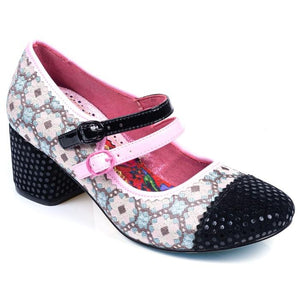 Mini Mod Black/Pink Irregular Choice - Rockamilly-Shoes-Vintage