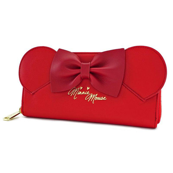 Minnie Ears Zip Around Wallet Loungefly - Rockamilly-Bags & Purses-Vintage