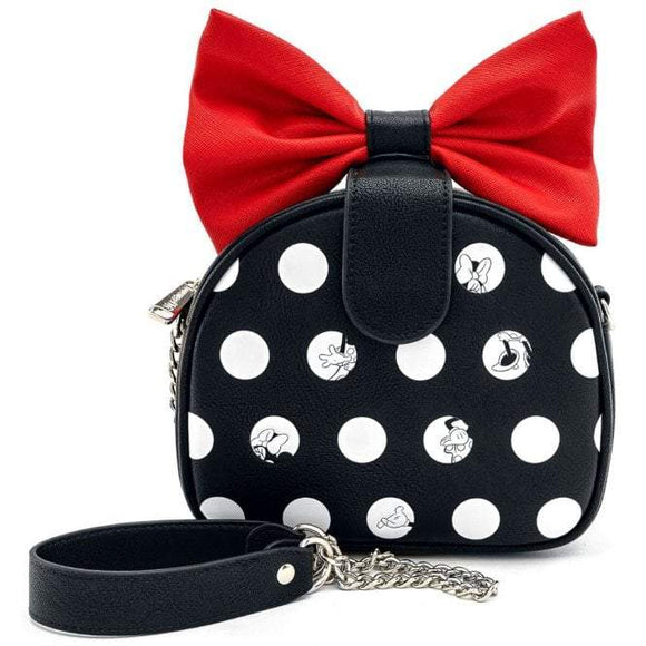 Minnie Mouse Big Red Bow Crossbody Bag - Rockamilly-Bags & Purses-Vintage