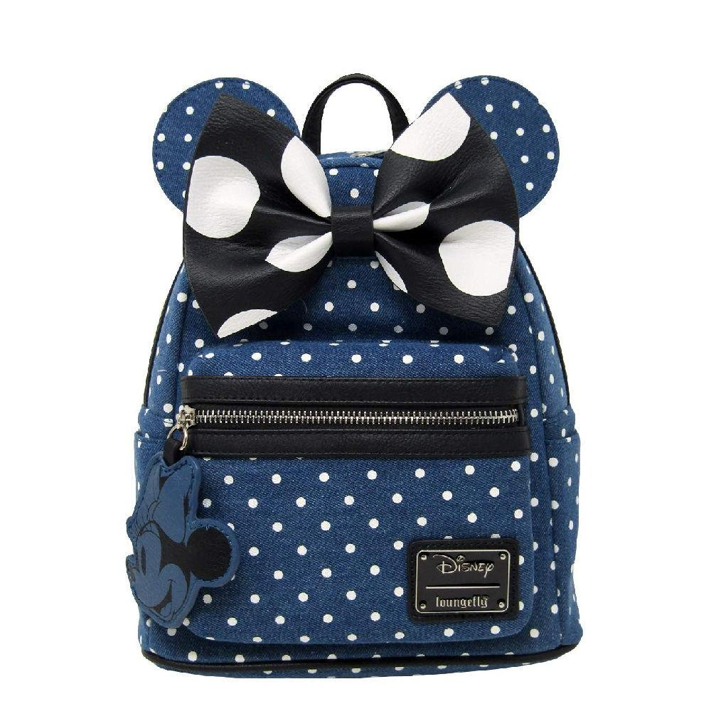 Minnie Mouse Denim Mini Backpack Loungefly - Rockamilly-Bags & Purses-Vintage
