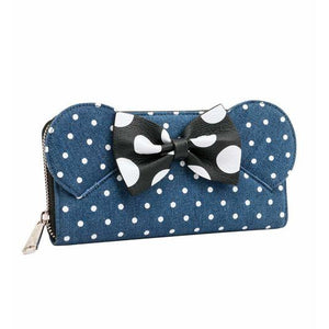 Minnie Mouse Denim Wallet Loungefly - Rockamilly-Bags & Purses-Vintage