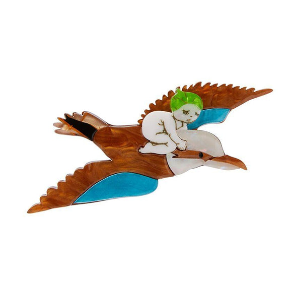 Mr Kookaburra Brooch May Gibbs Collection Erstwilder - Rockamilly-Jewellery-Vintage