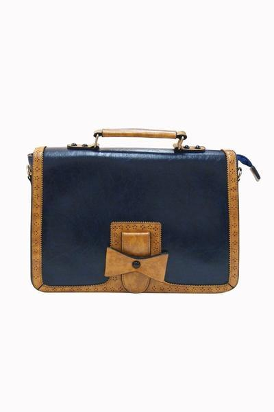 Navy & Tan Changing Tides - Rockamilly-Bags & Purses-Vintage