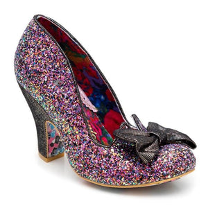 Nick Of Time Blk/Purple Irregular Choice - Rockamilly-Shoes-Vintage