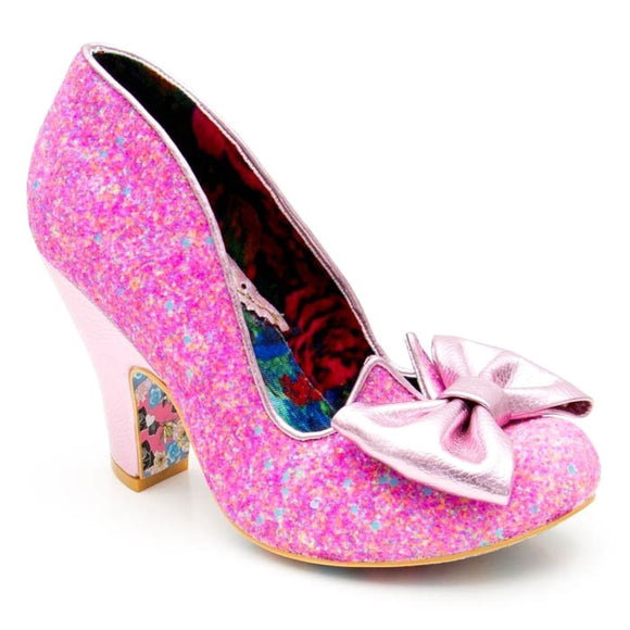 Nick Of Time Pink Irregular Choice - Rockamilly-Shoes-Vintage