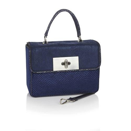 Perugia Bag Blue - Rockamilly-Bags & Purses-Vintage